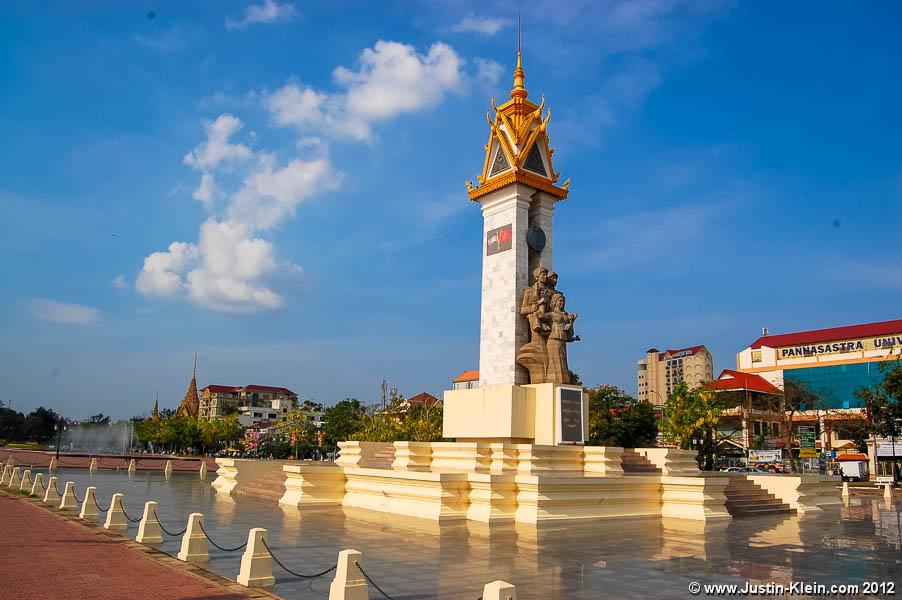 The Cambodia-Vietnam Friendship Monument.